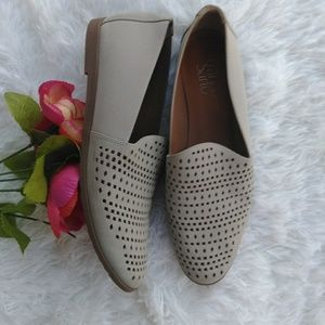Franco Sarto perforated  loafer size 9.5
